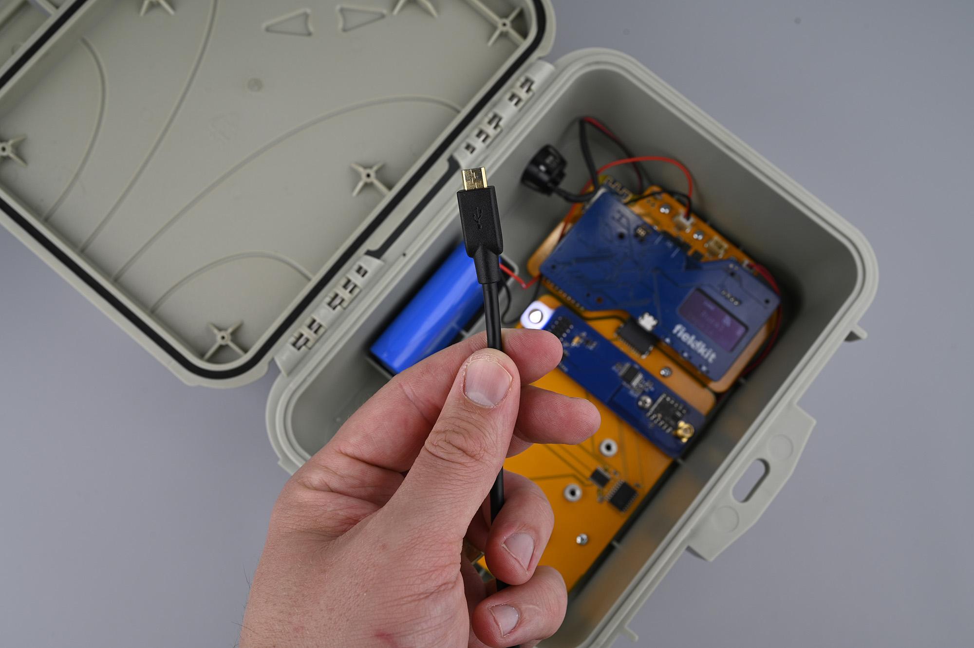 Locate Micro-USB Cable
