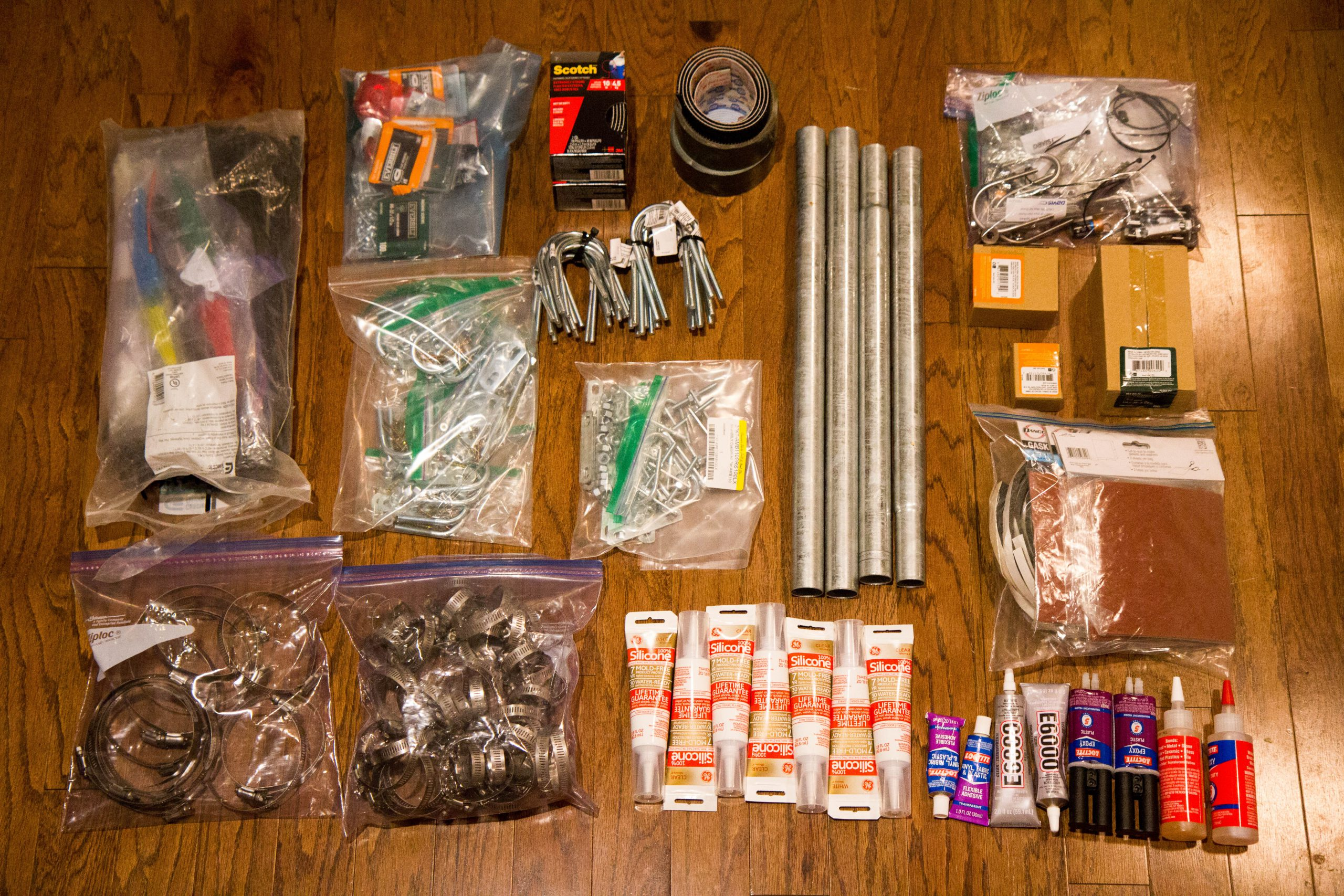 A small selection of items included in a FieldKit team member's gear bag